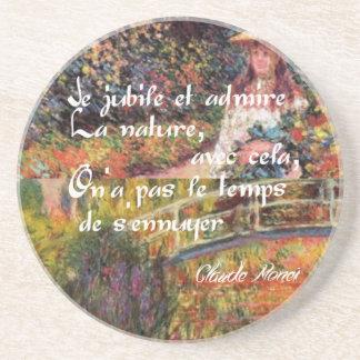 Porta-copos De Arenito A natureza no art. de Monet