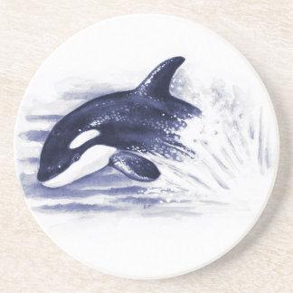 Porta-copos De Arenito A orca do bebê salta