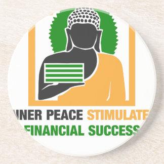 Porta-copos De Arenito A paz interna estimula o sucesso financeiro
