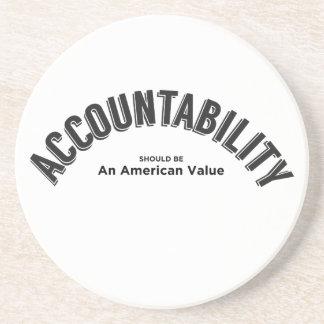 Porta-copos De Arenito A responsabilidade deve ser um valor americano