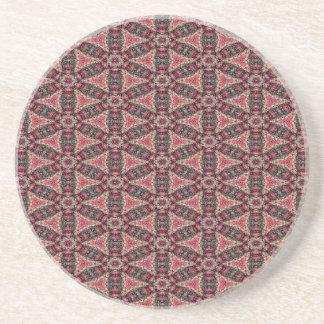 Porta-copos De Arenito Abstracção cor-de-rosa