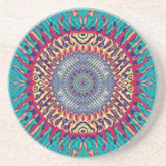 Porta-copos De Arenito Abstrato concêntrico criativo