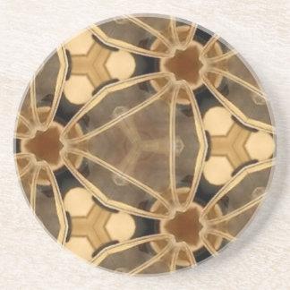 Porta-copos De Arenito Abstrato do caramelo