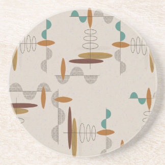 Porta-copos De Arenito Abstrato moderno do meio século atômico da era