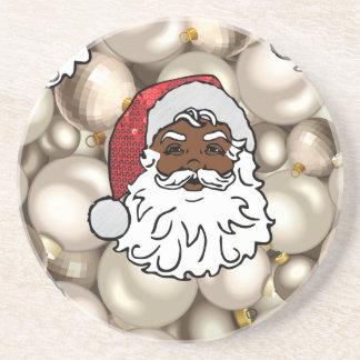 Porta-copos De Arenito africano Papai Noel