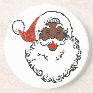 Porta-copos De Arenito africano Papai Noel do sequin