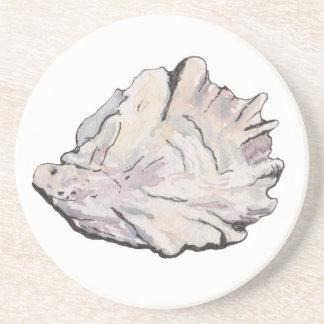 Porta-copos De Arenito Aguarela elegante simples da ostra