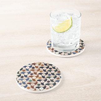 Porta-copos De Arenito Alhambra Stars o mosaico brilhante