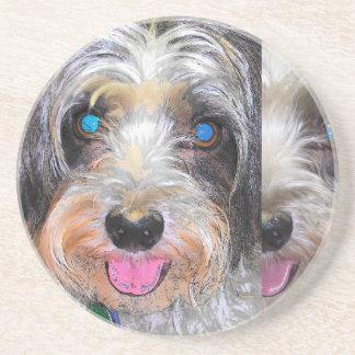 Porta-copos De Arenito amendoim o cão do salvamento