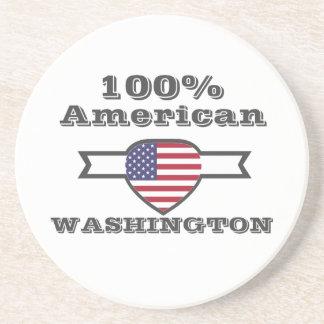 Porta-copos De Arenito Americano de 100%, Washington