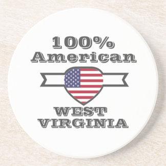 Porta-copos De Arenito Americano de 100%, West Virginia