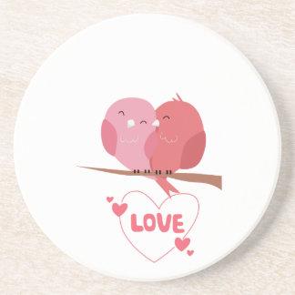 Porta-copos De Arenito Amor do pássaro