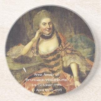 Porta-copos De Arenito Anna Amalia de Brunsvique-Wolfenbuttel 1739