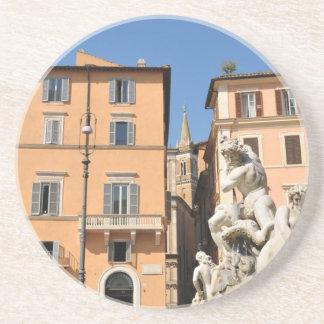 Porta-copos De Arenito Arquitetura italiana na praça Navona, Roma, Italia