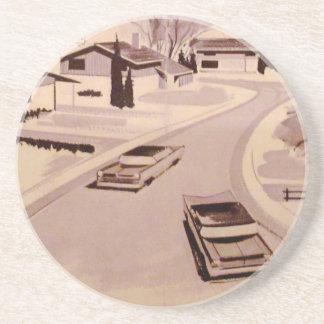 Porta-copos De Arenito Arquitetura moderna do Midcentury