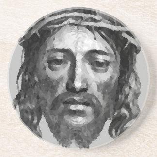 Porta-copos De Arenito Arte do cristão das messias do Th do Jesus Cristo