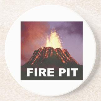 Porta-copos De Arenito arte do poço do fogo