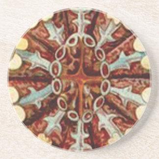 Porta-copos De Arenito arte do raio do núcleo