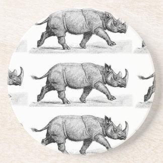 Porta-copos De Arenito Arte Running dos Rhinos