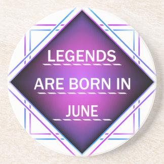 Porta-copos De Arenito As legendas são nascidas em junho