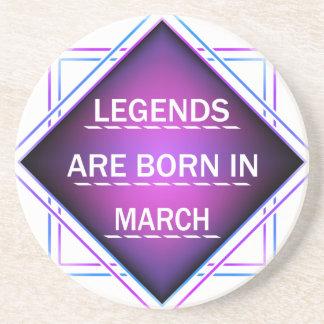 Porta-copos De Arenito As legendas são nascidas em março