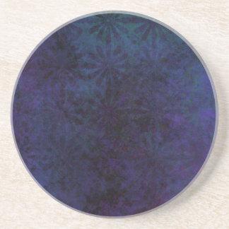 Porta-copos De Arenito Azul & abstrato do roxo, arte suja de Digitas