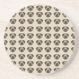 Porta-copos De Arenito azulejo BG do pug