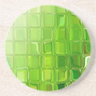Porta-copos De Arenito Azulejos do vidro verde