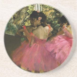 Porta-copos De Arenito Bailarinas no rosa por Edgar Degas