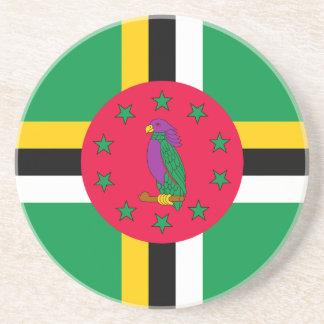 Porta-copos De Arenito Baixo custo! Bandeira de Dominica