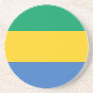 Porta-copos De Arenito Baixo custo! Bandeira de Gabon