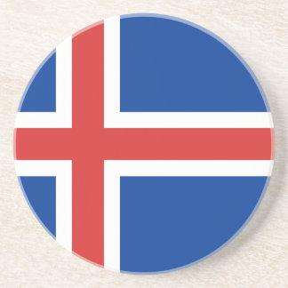 Porta-copos De Arenito Baixo custo! Bandeira de Islândia