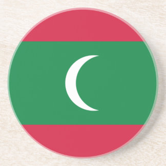Porta-copos De Arenito Baixo custo! Bandeira de Maldives