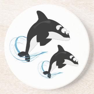 Porta-copos De Arenito baleias