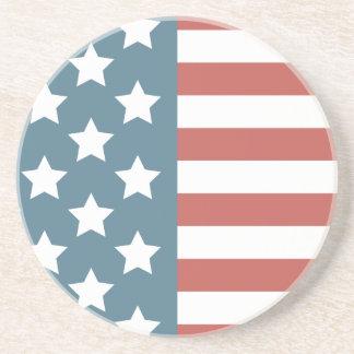 Porta-copos De Arenito Bandeira americana