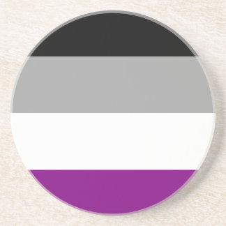 Porta-copos De Arenito Bandeira assexuada do orgulho