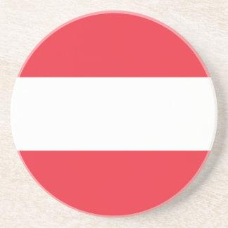 Porta-copos De Arenito Bandeira austríaca patriótica