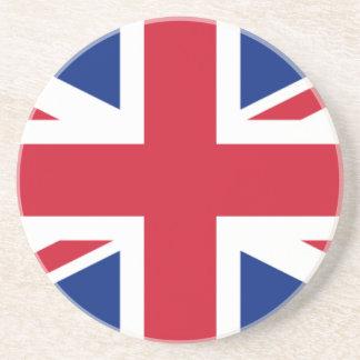 """Porta-copos De Arenito Bandeira BRITÂNICA """"Union Jack """" de Reino Unido da"""