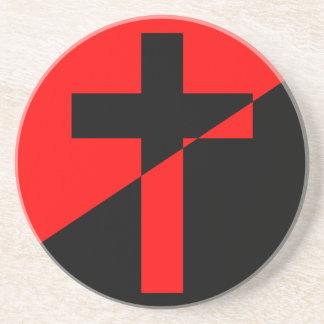 Porta-copos De Arenito Bandeira cristã da cristandade da anarquia do
