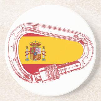 Porta-copos De Arenito Bandeira de Carabiner da espanha