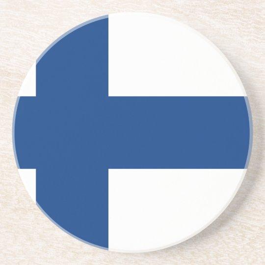 Porta-copos De Arenito Bandeira de Finlandia (lippu de Suomen, flagga de