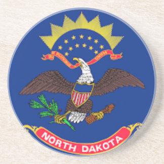 Porta-copos De Arenito Bandeira de North Dakota