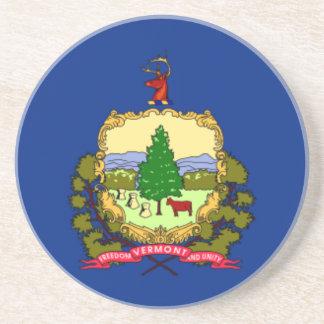 Porta-copos De Arenito Bandeira de Vermont