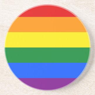 Porta-copos De Arenito Bandeira do arco-íris