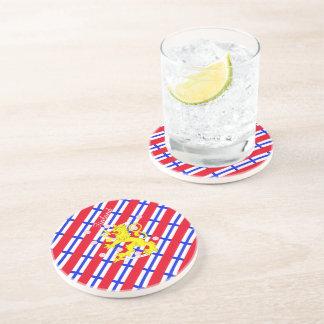 Porta-copos De Arenito Bandeira finlandesa das listras