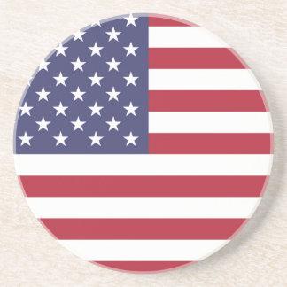 """Porta-copos De Arenito """"Bandeira nacional dos Estados Unidos da América"""