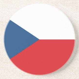 Porta-copos De Arenito Bandeira patriótica da república checa