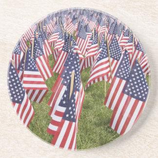 Porta-copos De Arenito Bandeiras do Memorial Day