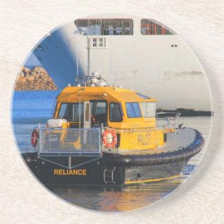 Porta-copos De Arenito Barco piloto e navio de cruzeiros