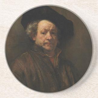 Porta-copos De Arenito Belas artes do retrato de auto de Rembrandt Van